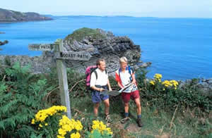 People walking the Coastal path